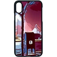 Post Office Mail Mailbox Night Apple Iphone Xs Seamless Case (black)