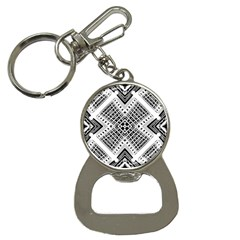 Pattern Tile Repeating Geometric Bottle Opener Key Chains by Pakrebo