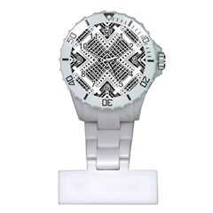 Pattern Tile Repeating Geometric Plastic Nurses Watch
