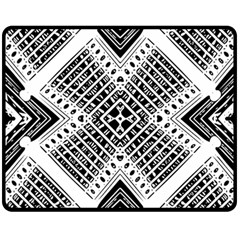 Pattern Tile Repeating Geometric Double Sided Fleece Blanket (medium)