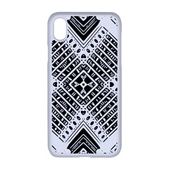 Pattern Tile Repeating Geometric Apple Iphone Xr Seamless Case (white)