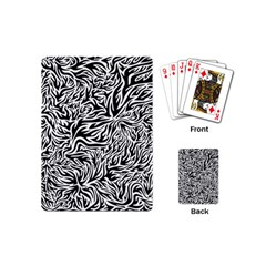 Flames Fire Pattern Digital Art Playing Cards (mini)