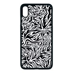 Flames Fire Pattern Digital Art Apple Iphone Xs Max Seamless Case (black)