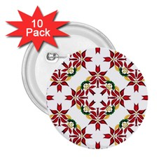 Christmas Wallpaper Background 2 25  Buttons (10 Pack)