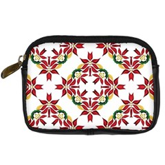 Christmas Wallpaper Background Digital Camera Leather Case