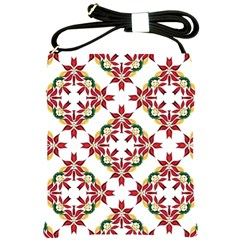 Christmas Wallpaper Background Shoulder Sling Bag