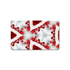 Christmas Background Tile Gifts Magnet (name Card)