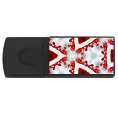 Christmas Background Tile Gifts Rectangular Usb Flash Drive