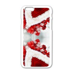 Christmas Background Tile Gifts Apple Iphone 6/6s White Enamel Case