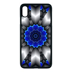 Kaleidoscope Abstract Round Apple Iphone Xs Max Seamless Case (black)