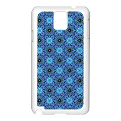 Blue Tile Wallpaper Texture Samsung Galaxy Note 3 N9005 Case (white)