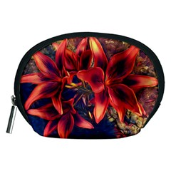 Red Lillies Bloom Flower Plant Accessory Pouch (medium)