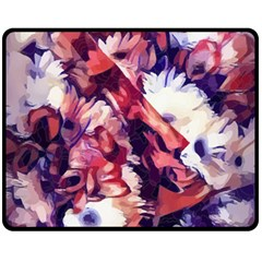Flowers Bouquets Vintage Pop Art Double Sided Fleece Blanket (medium)