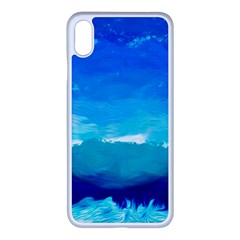 Blue Sky Artwork Drawing Painting Apple Iphone Xs Max Seamless Case (white)