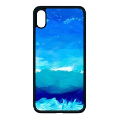 Blue Sky Artwork Drawing Painting Apple Iphone Xs Max Seamless Case (black)