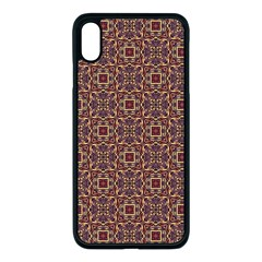 Pattern Decoration Art Ornate Apple Iphone Xs Max Seamless Case (black)