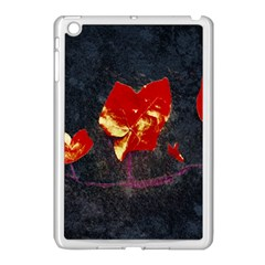 Grunge Floral Collage Design Apple Ipad Mini Case (white) by dflcprintsclothing