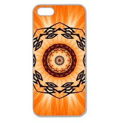Abstract Kaleidoscope Colorful Apple Seamless Iphone 5 Case (clear)
