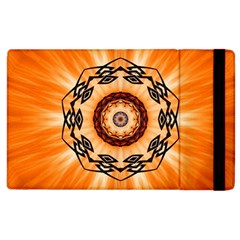 Abstract Kaleidoscope Colorful Apple Ipad 2 Flip Case by Pakrebo