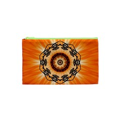 Abstract Kaleidoscope Colorful Cosmetic Bag (xs)