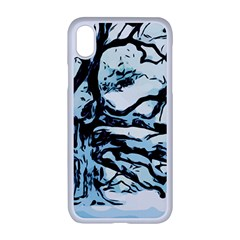 Tree Winter Blue Snow Cold Scene Apple Iphone Xr Seamless Case (white)