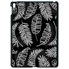 Black And White Tropical Leaves Apple Ipad Pro 9 7   Black Seamless Case by goljakoff