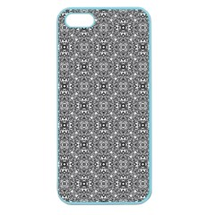 Black White Geometric Background Apple Seamless Iphone 5 Case (color)