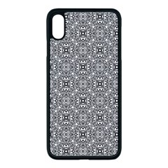 Black White Geometric Background Apple Iphone Xs Max Seamless Case (black)