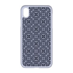 Black White Geometric Background Apple Iphone Xr Seamless Case (white)