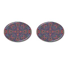 Tile Repeating Colors Texture Cufflinks (oval)