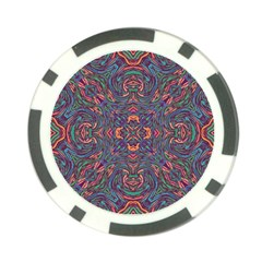 Tile Repeating Colors Texture Poker Chip Card Guard