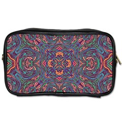 Tile Repeating Colors Texture Toiletries Bag (one Side)