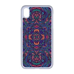 Tile Repeating Colors Texture Apple Iphone Xr Seamless Case (white)