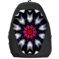 Kaleidoscope Round Metal Backpack Bag by Pakrebo