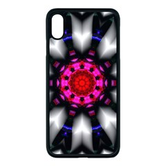 Kaleidoscope Round Metal Apple Iphone Xs Max Seamless Case (black)