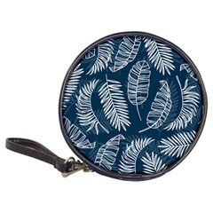 Blue And White Tropical Leaves Classic 20-cd Wallets by goljakoff