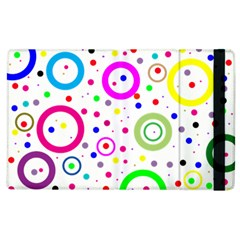 Round Abstract Design Apple Ipad 2 Flip Case