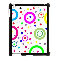 Round Abstract Design Apple Ipad 3/4 Case (black)