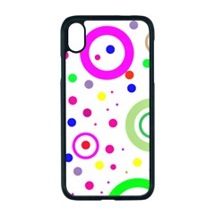 Round Abstract Design Apple Iphone Xr Seamless Case (black)