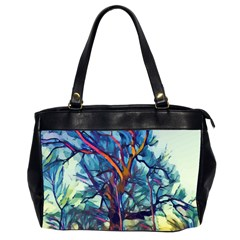 Tree Colorful Nature Landscape Oversize Office Handbag (2 Sides)