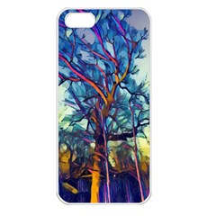 Tree Colorful Nature Landscape Apple Iphone 5 Seamless Case (white)