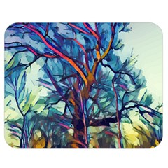 Tree Colorful Nature Landscape Double Sided Flano Blanket (medium)  by Pakrebo