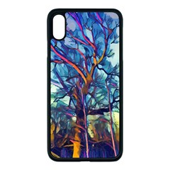 Tree Colorful Nature Landscape Apple Iphone Xs Max Seamless Case (black)