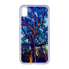 Tree Colorful Nature Landscape Apple Iphone Xr Seamless Case (white)