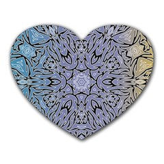 Tile Design Art Mosaic Pattern Heart Mousepads