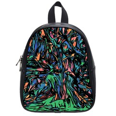 Tree Forest Abstract Forrest School Bag (small)