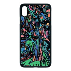 Tree Forest Abstract Forrest Apple Iphone Xs Max Seamless Case (black)