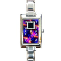 Box Abstract Frame Square Rectangle Italian Charm Watch