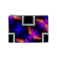 Box Abstract Frame Square Cosmetic Bag (medium)