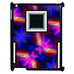 Box Abstract Frame Square Apple Ipad 2 Case (black) by Pakrebo